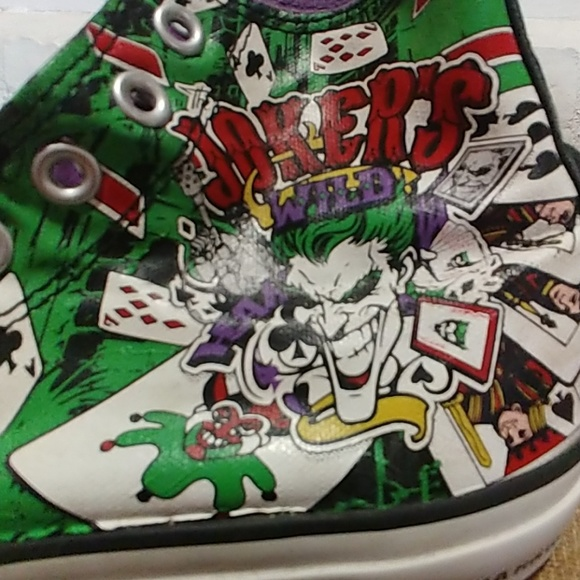 be712f69118 Converse Other - CONVERSE All Star DC Comics Jokers Size 7 9